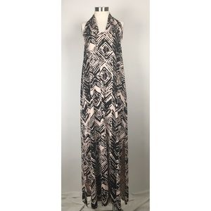 Rachel Pally Pink Black Halter Maxi Dress Small